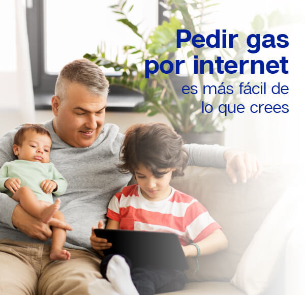 Pedir gas por Internet es más fácil de lo que crees