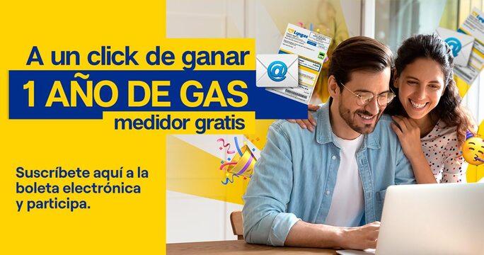 A un click de ganar 1 año de gas medidor gratis