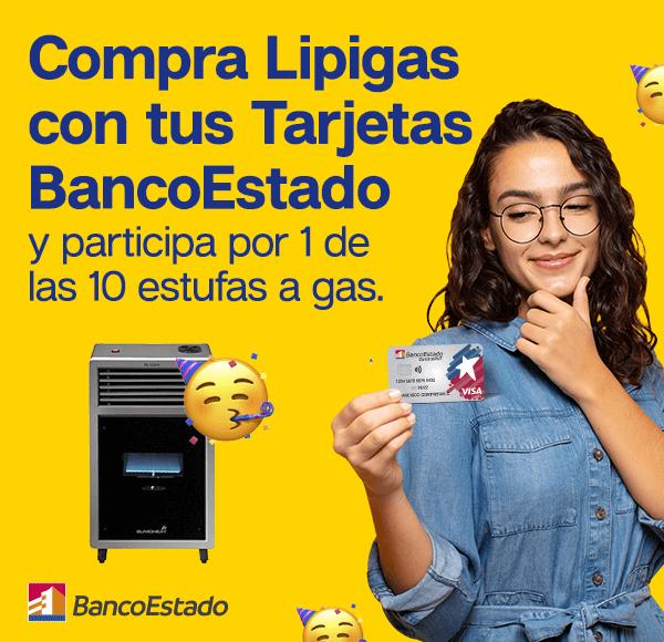 Bases Legales - Compra Lipigas con tus Tarjetas BancoEstado y participa por 1 de las 10 estufas a gas