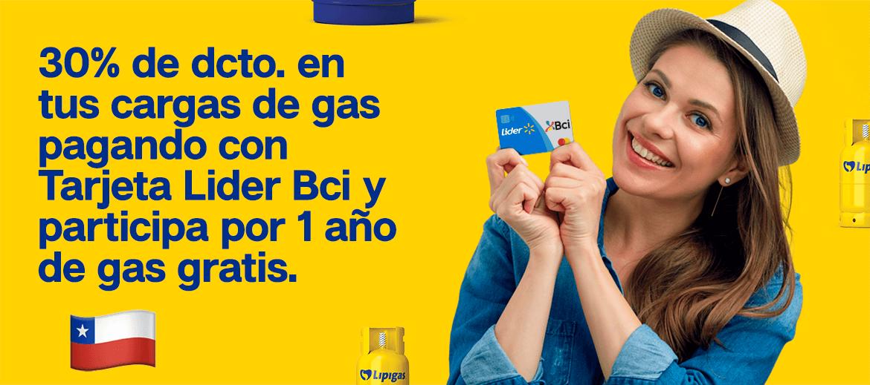Bases Legales - Lider Bci 30% + 1 año de gas gratis