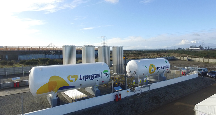 LIPIGAS BEGINS DISTRIBUTION OF NATURAL GAS THROUGH NETWORKS IN THE SOUTH OF CHILE.