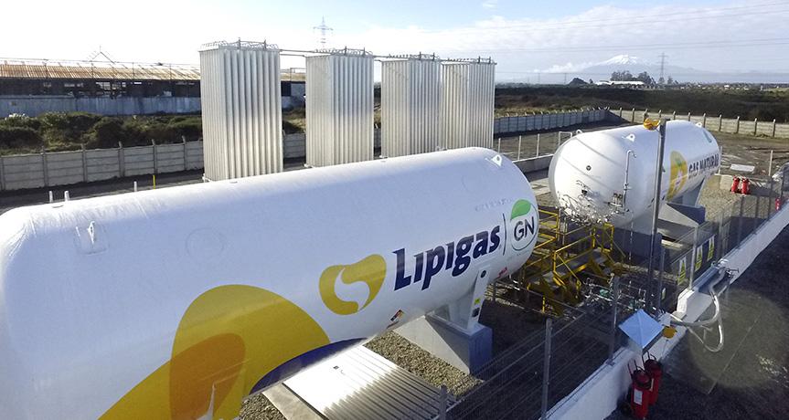 LIPIGAS INICIA DISTRIBUCIÓN DE GAS NATURAL POR REDES EN EL SUR DE CHILE